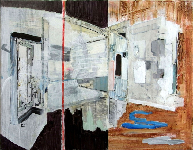 Spacious 2013 mixed media on canvas 46x35.5cm1 2013 16
