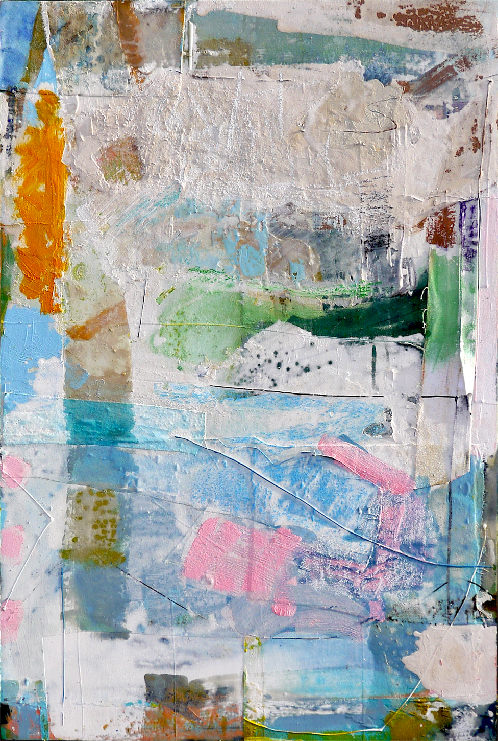 White 2019 61x91cm mixed media on board Paintings RECENT