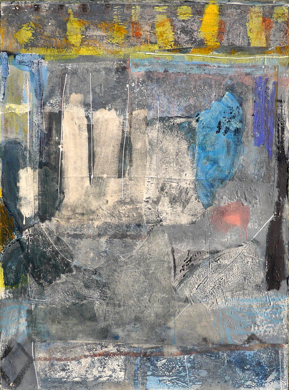 Tomb 2019 92x122cm mixed media on board Paintings RECENT
