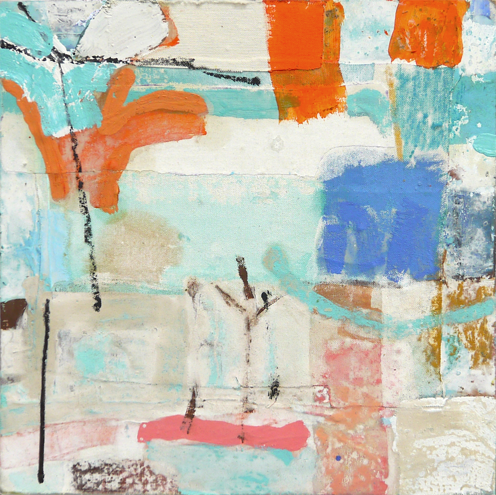 Offshore 2019 40x40cm mixed media on board Paintings RECENT